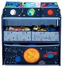 Space Adventures Multi Bin Toy Organizer