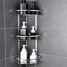 Space Aluminum Bathroom Shelf No Punching Shower