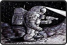 Space Astronaut Doormat Rug Easy to Clean Non Slip