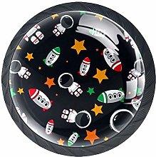 Space Astronauts Rockets Cabinet Door Knobs