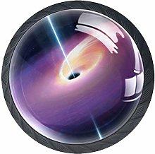 Space Black Hole Cabinet Door Knobs Handles Pulls