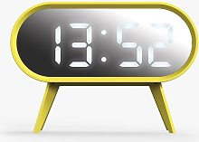 Space Hotel Cyborg LED Digital Alarm Clock, Yellow