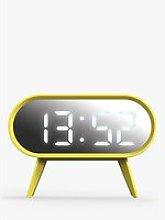 Space Hotel Cyborg LED Digital Alarm Clock, Yellow