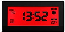 SPACE HOTEL LCD Alarm Clock - Robot 10 (Red, 65 x