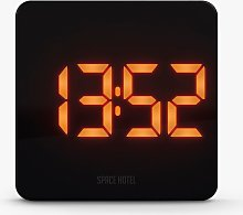 Space Hotel Orbatron LED Digital Alarm Clock, Black