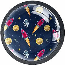 Space Planets Astronaut Knobs for Kitchen Cabinets
