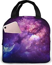 Space Purple Nebula Cooler Bag Oxford Lunch Tote