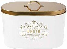 Space Saving Bread Bin Cream Black White Bread bin