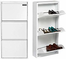 Space Saving Metal Steel Three Door Shoe Wall Rack