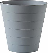Space-Saving Trash Can Gray Simple Large Uncovered