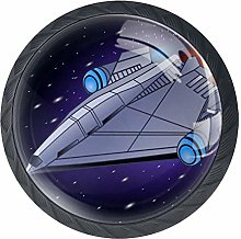 Space Ship Crystal Drawer Handles Furniture Glass