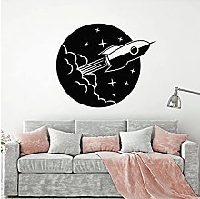Space Star Wall Decal Astronaut Rocket Ship