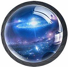 Space Universe Stars Galaxy 4pcs Cabinet Door