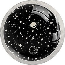Space with Planets Comets, 4 Pack Cabinet Drawe