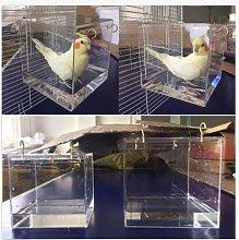 Spacious Acrylic Bath House Bird Cage Bird Bath