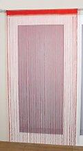 Spaghetti String Door Curtain Panel Red