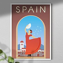 Spain Poster - Travel Print   Travel Wall Art  