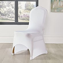 Spandex Chair Covers White Arched Front Wedding