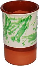 Spanish Style Ceramic Wine Cooler (Jaspe Green)