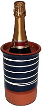 Spanish Style Ceramic Wine Cooler (Spiral Blue)