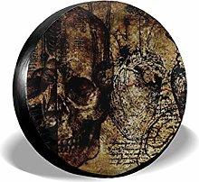 Spare Tire Covers Terror Skull Heart Hand Mind