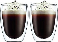 SPARES2GO 175ml Double Walled Thermal Coffee Glass