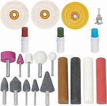 SPARES2GO 7 Piece Metal Cleaning, Polishing &