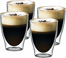 SPARES2GO 80ml Double Walled Thermal Coffee Glass