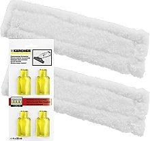 Spares2go Cloth Pads + Genuine Detergent Capsules