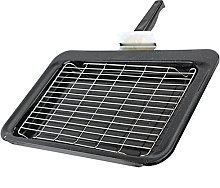 SPARES2GO Complete Grill Pan Tray Rack & Handle