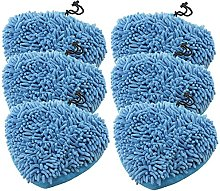 SPARES2GO Coral Microfibre Cloth Cover Pads for
