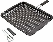 SPARES2GO Grill Pan with 2 Removable Handles for