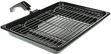 SPARES2GO Grill Pan with Rack & Detachable Handle