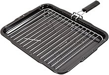 SPARES2GO Grill Pan with Removable Handle for