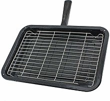 SPARES2GO Medium Grill Pan with Detachable Handle