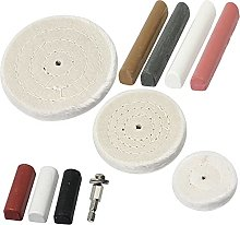 SPARES2GO Metal Cleaning Polishing Buffing Kit +