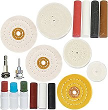 SPARES2GO Metal Cleaning Polishing Buffing Wheel &