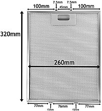 SPARES2GO Metal Mesh Filter fits Many Leading