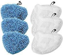 SPARES2GO Microfibre Cloth Cover + Coral Pads for
