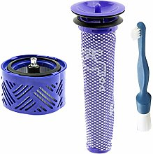 SPARES2GO Pre + Post Motor Filter + Cleaning Brush
