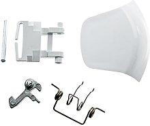 Spares2go White Door Lock Handle Spring Pin Latch