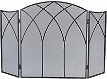 Spark Fire Guard Fireplace Screen With Arch Frame