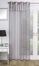 Sparkle Sequins Eyelet Top Window Door Single