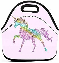Sparkle Unicorn Insulated Lunch Bag Tote Picnic