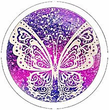 Sparkly Butterfly 4 Pack Round Drawer Knobs
