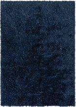 Sparkly Dark Blue Shaggy Rug 120x170cm - Flair