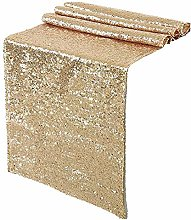 Sparkly Rose Gold Sequin Table Runners 12x72inch