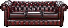 Sparnall Leather 3 Seater Chesterfield Sofa