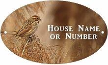Sparrow Bird UV Printed Metal House Plaque - Large