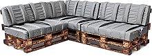 Spatium pallet cushions, removable pillowcase,